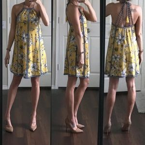 Flying Tomato white yellow blue floral dress